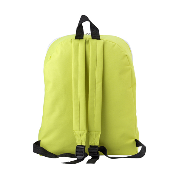 Polyester backpack. in lime
