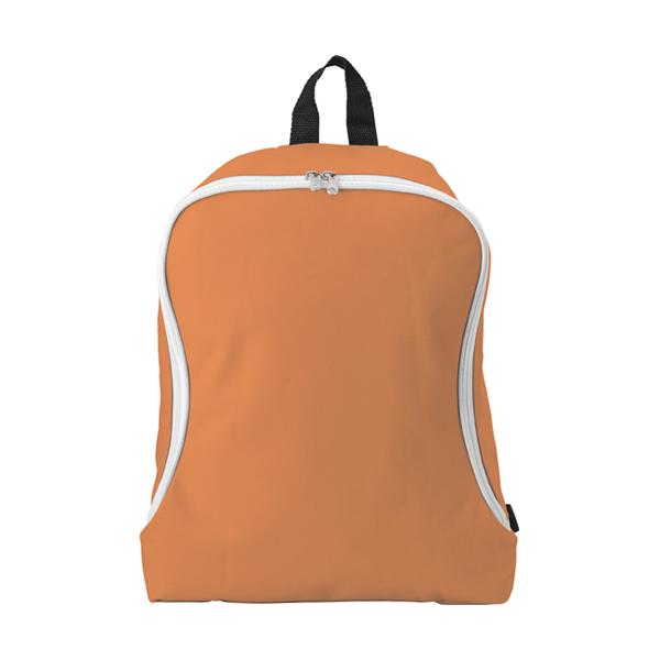 Polyester backpack. in orange