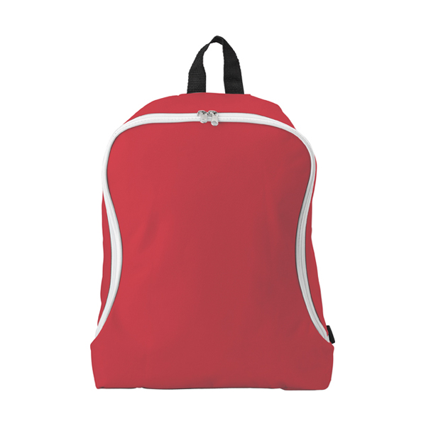 Polyester backpack. in red