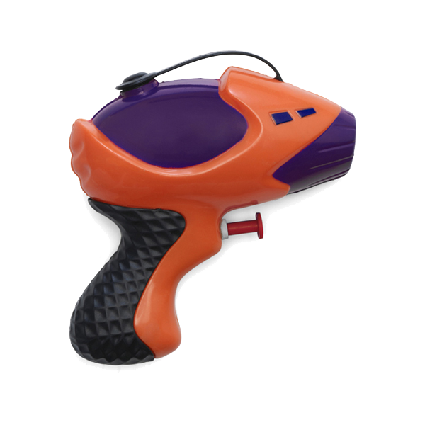 Plastic water gun in multicoloured