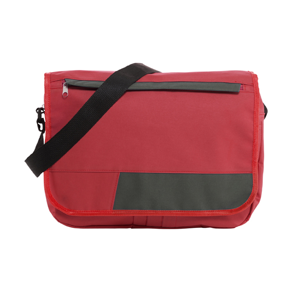 Polyester 600D document bag. in red