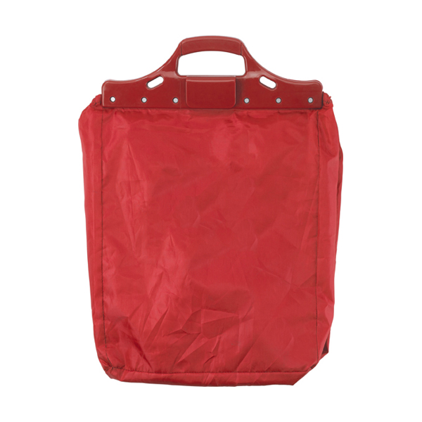 Trolley shopping bag. in red