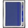 Notebook and ballpen set. in blue