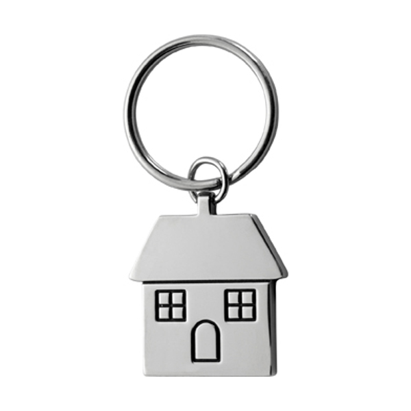 House shaped key holder in silver