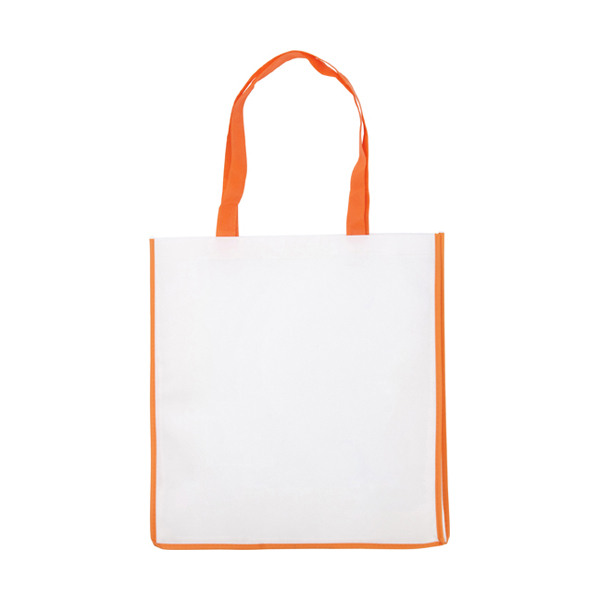 Non-woven bag in orange