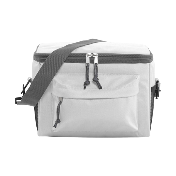 Polyester 600D cooler. in white