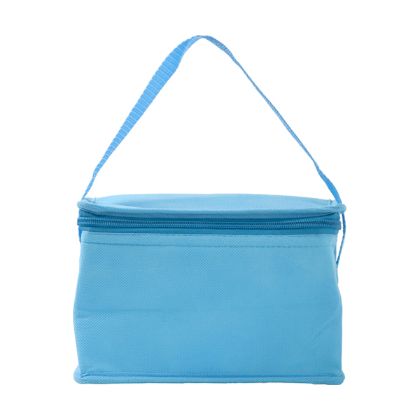 Six can cooler bag. in light-blue