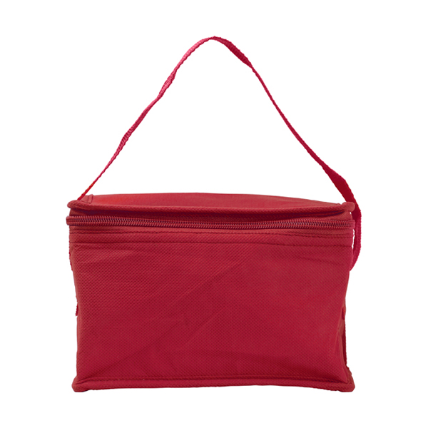 Six can cooler bag. in red