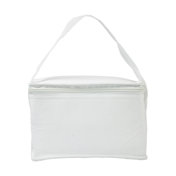 Six can cooler bag. in white