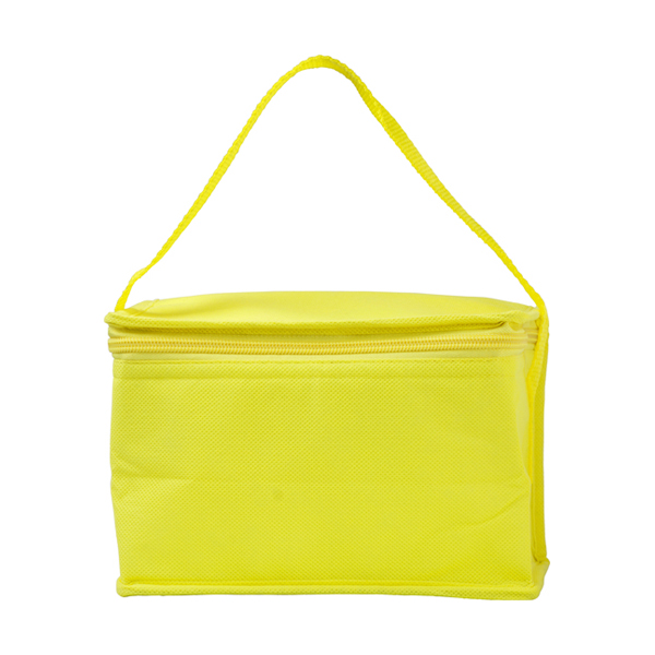 Six can cooler bag. in yellow
