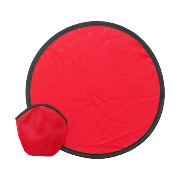 Foldable nylon frisbee in red