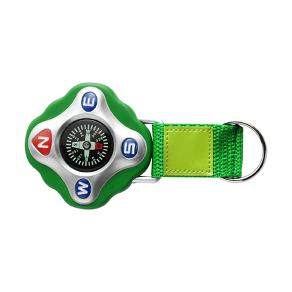 Plastic compass in light-green