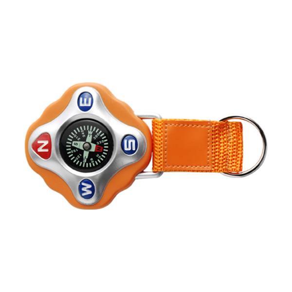 Plastic compass in orange