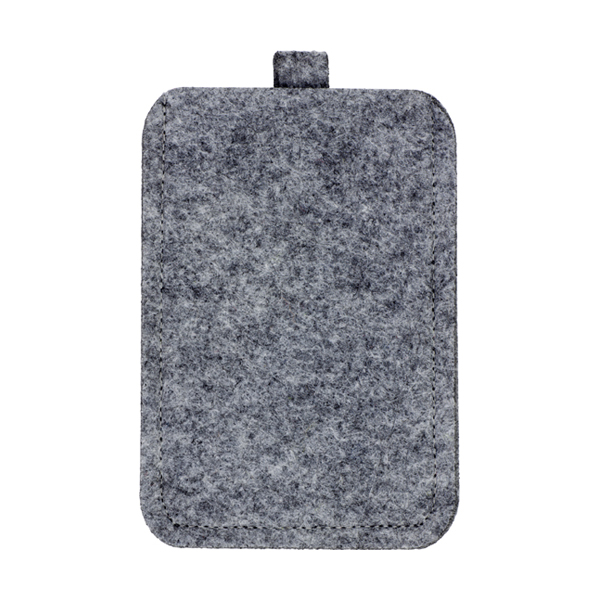 Felt mobile phone pouch. in grey