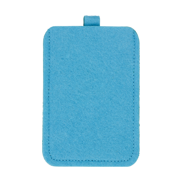 Felt mobile phone pouch. in light-blue