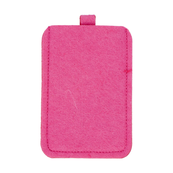 Felt mobile phone pouch. in pink
