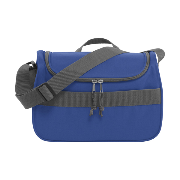 Polyester 600D cooler bag. in cobalt-blue