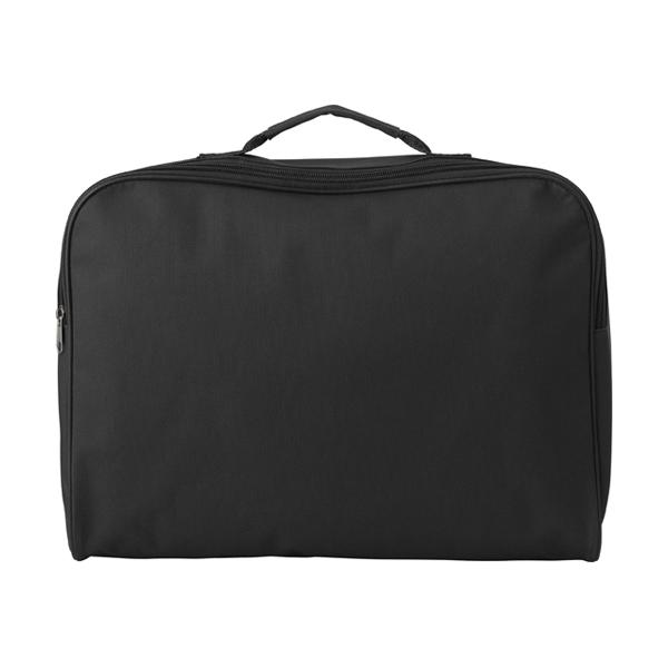 Polyester 600D document bag. in black