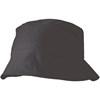 Cotton sun hat in black