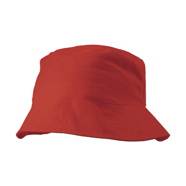 Cotton sun hat in red