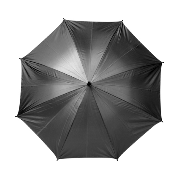 Automatic umbrella in black-and-silver