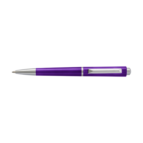 Plastic ballpen with black ink. in purple