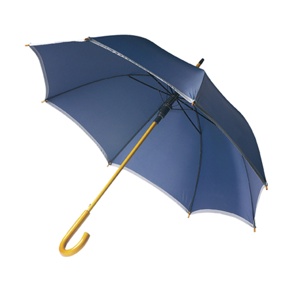 Umbrella with reflective border in blue