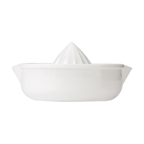 Plastic citrus squeezer. in white