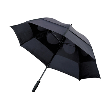 Storm-proof vented umbrella in black