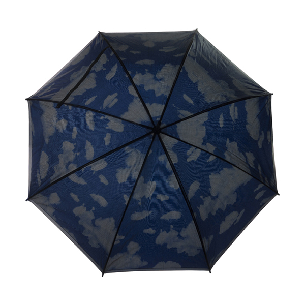 Double canopy umbrella in light-blue