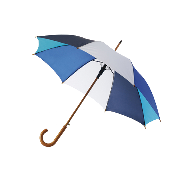 Classic style umbrella in dark-blue-ice-blue-cobalt-blue-and-white