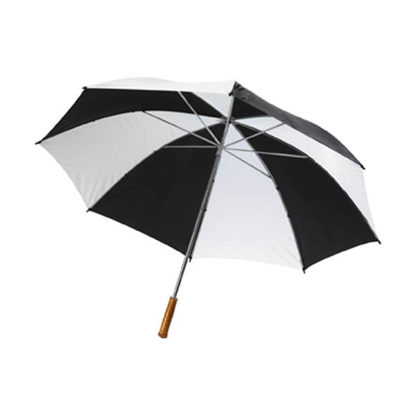 Umbrella with automatic opening. in black-and-white