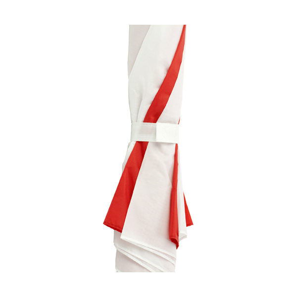Umbrella with automatic opening. in red-and-white