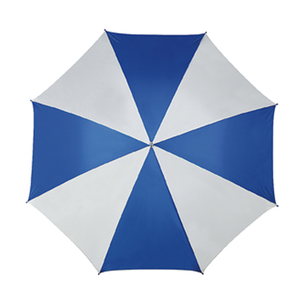 Golf umbrella in blue-and-white