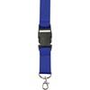 Lanyard and key holder in cobalt-blue