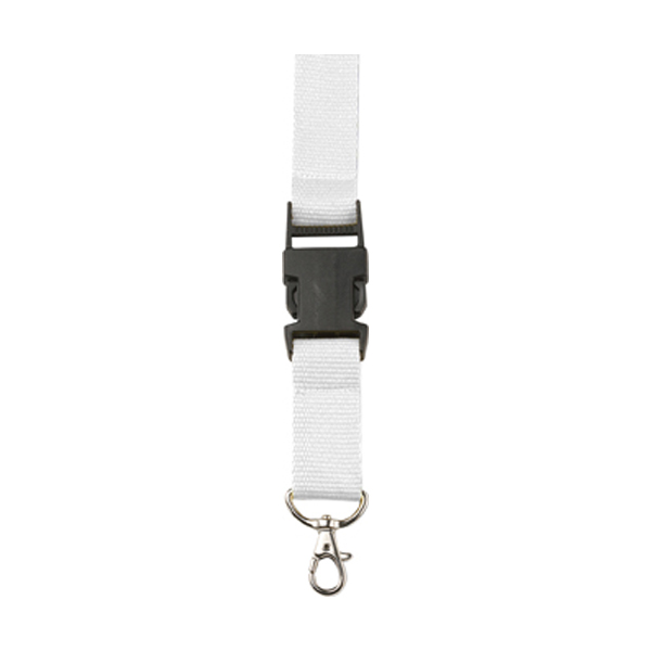 Lanyard and key holder in white