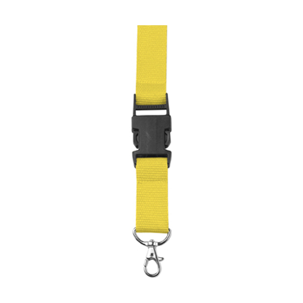 Lanyard and key holder in yellow