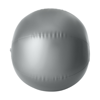 Beach ball, 35cms deflated in silver