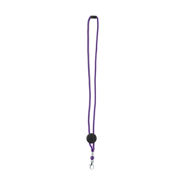 Nylon lanyard carabiner clip. in purple
