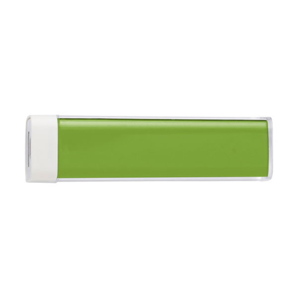 Plastic power bank. in lime