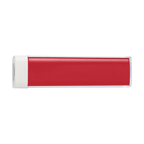 Plastic power bank. in red