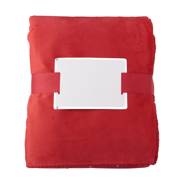 Polyester micro mink anti-pilling blanket in red