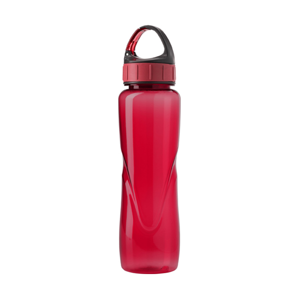 Tritan water bottle. in red