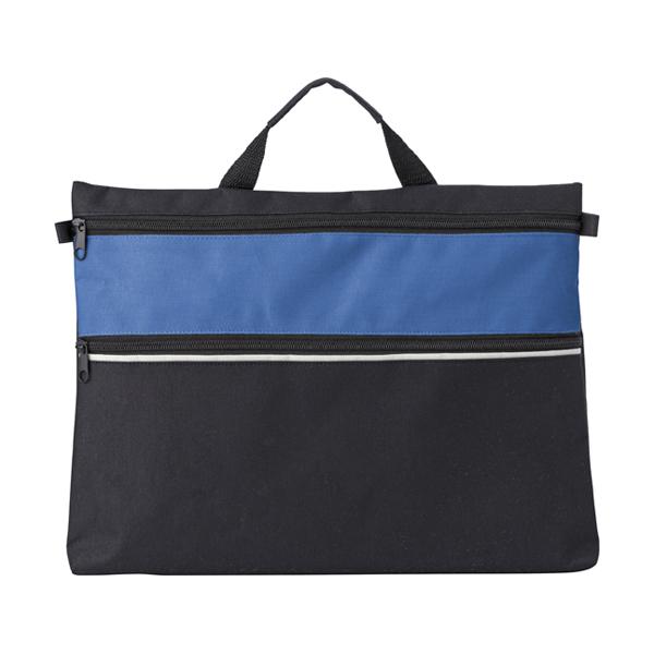 Polyester 600D document bag. in cobalt-blue