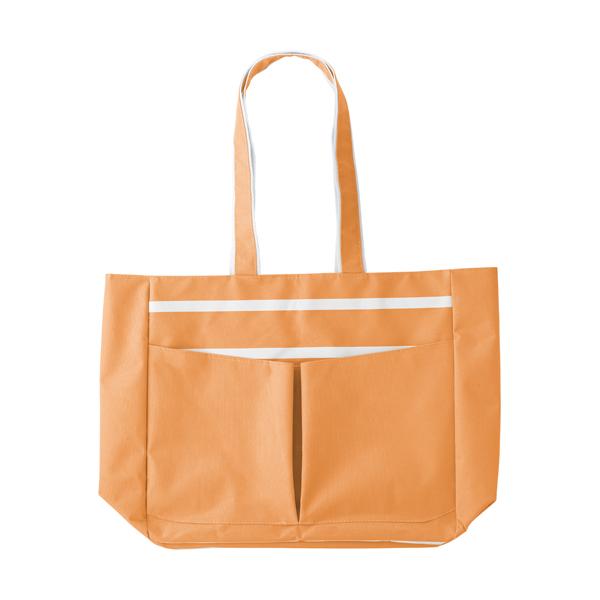 Polyester 600D beach bag. in orange