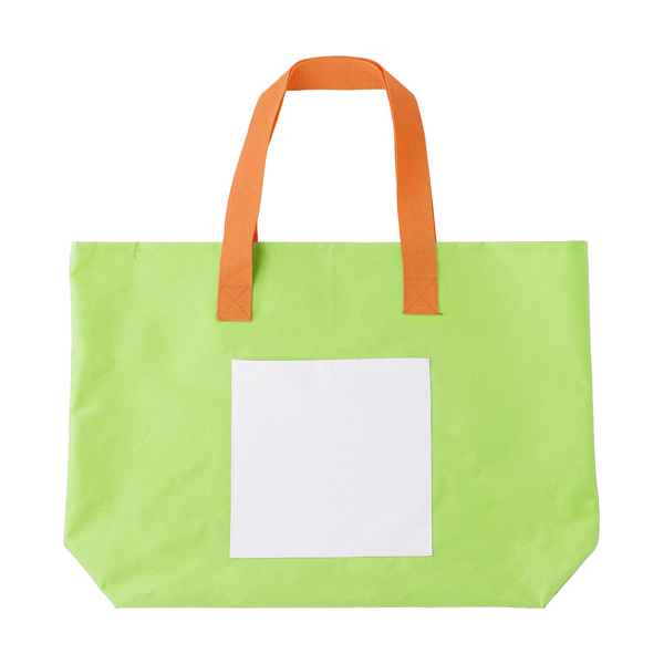 Polyester 600D beach bag. in lime