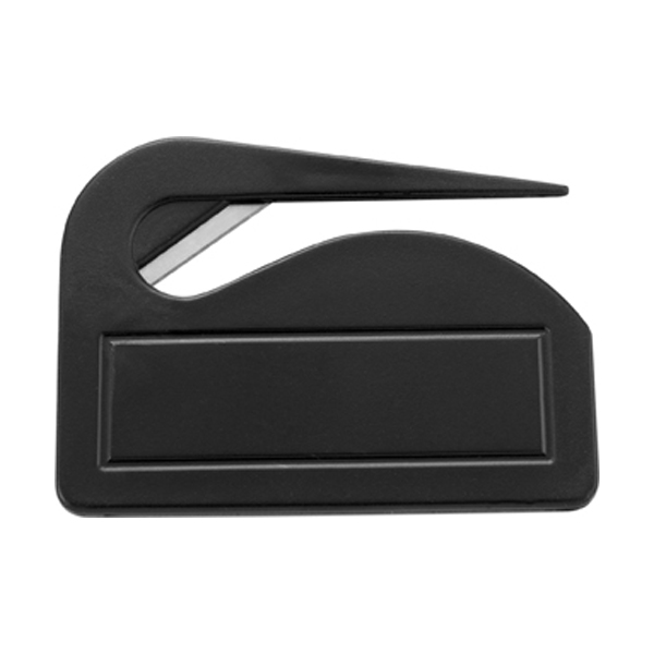 Plastic letter opener in black