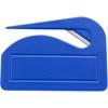 Plastic letter opener in cobalt-blue