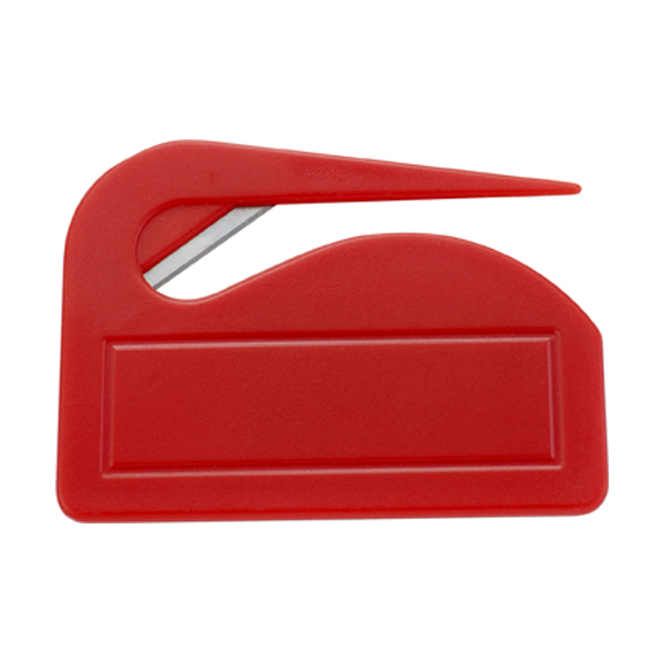Plastic letter opener in red