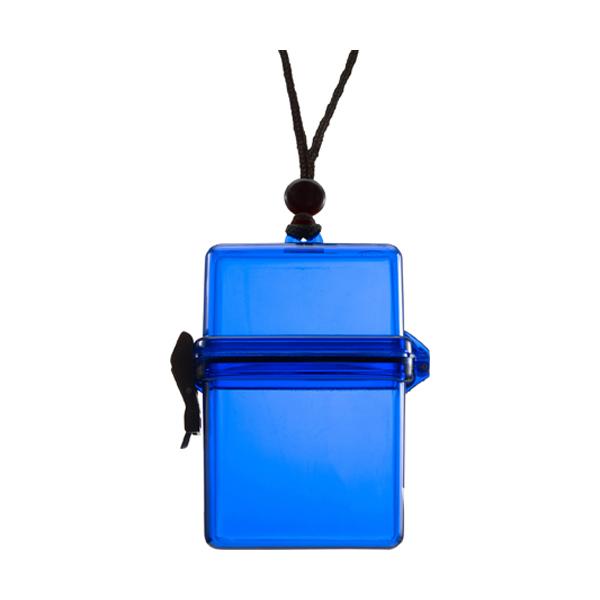 Waterproof container. in cobalt-blue